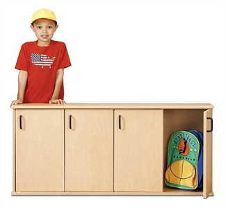 Young Time Furniture 4-Section Stackable Locker with Doors