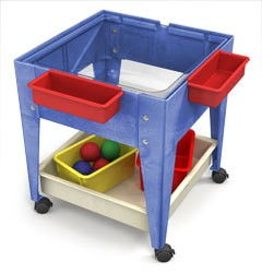 ChildBrite Youth Clear View Mobile Mite Activity Table with Casters