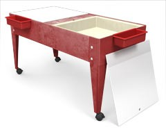 ChildBrite Youth Double Mite Outdoor Actitity Table with Casters