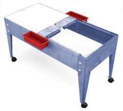 ChildBrite Youth Double Mite Play Table with Casters for Mobility