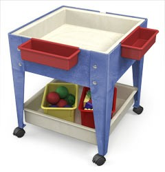 ChildBrite Youth Mobile Mite Activity Table w/ Casters