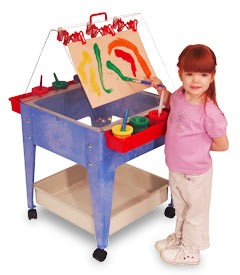 ChildBrite Youth Paint & Dry Mobile Easel w/ Casters