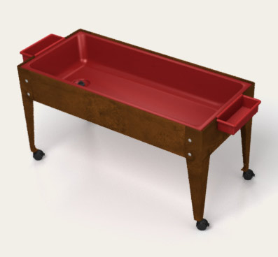 Youth Sand and Water Activity Center w/ Red Liner and 4 Casters