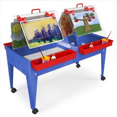 ChildBrite Youth Ultimate Paint & Dry Easel & Activity Center Table