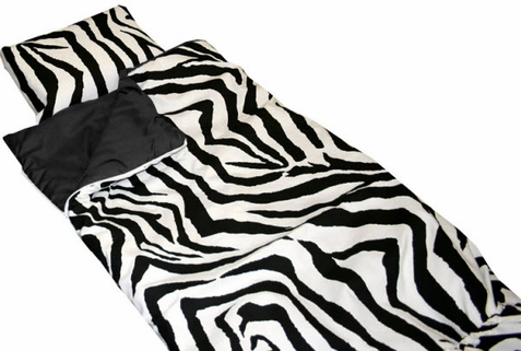 Zebra Print Premier Sleeping Bag - Out of Stock