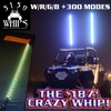 NEW - 4 Foot - 5150 Whips - '187 CRAZY WHIP' w/ Remote - FREE SHIPPING