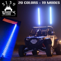 4 Foot - 5150 Whips - Multicolor LED Whip w/ Remote - FREE SHIPPING