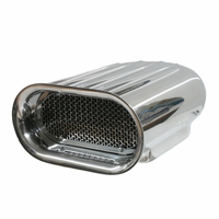 Polish Aluminum Ram Air Cleaner Scoop Finned Single Four Barrel Car Boat 5-1/8""