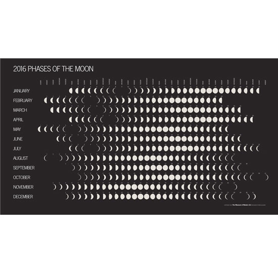 Store Home > Calendars > 2016 Phases of the Moon Calendar