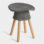 Coiled Stool: Grey