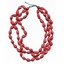 Elk: Red Three Strand Necklace
