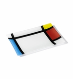 Mondrian Ring Glass Platter