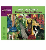 Roy De Forest: Country Dog Gentlemen 1000-piece Jigsaw Puzzle
