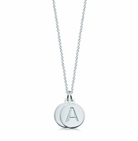 1/2 inch, Sterling Silver Mini 2 Initial Disc Necklace (Engravable)