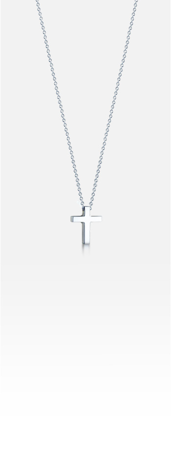 Kay Wicks - 1/2 inch Sterling Silver Cross Necklace