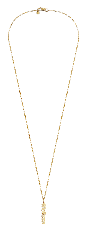 14k Gold Vermeil Name Charm Necklace