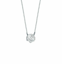 14k White Gold Children's Cut Out Initial Monogram Necklace
