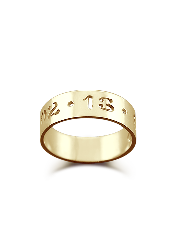 Kay Wicks - 5mm 14k Gold Cut Out Date Ring