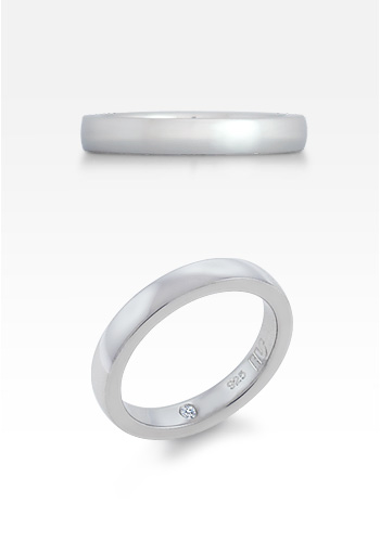 HIS® 4mm Men's Sterling Silver Comfort Fit Wedding Ring (Engravable)