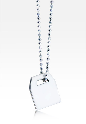 HIS� - Sterling Silver Men's Tag Necklace w/t Ball Chain (Engravable)