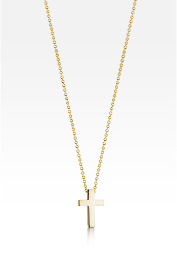 Kay Wicks - 1/2 inch, Petite 14k Gold Cross Necklace