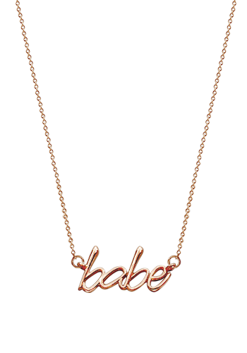 Kay Wicks - Solid 14k Rose Gold Babe Necklace