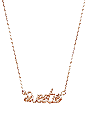 Kay Wicks - Solid 14k Rose Gold Sweetie Necklace