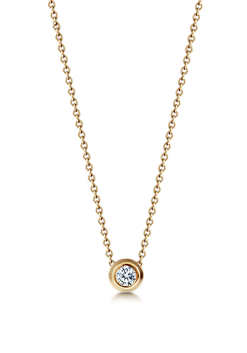 Kay Wicks - 18k Gold 8mm Bezel Set Diamond Solitaire Necklace (G-H/VS, 0.30 ctw.)