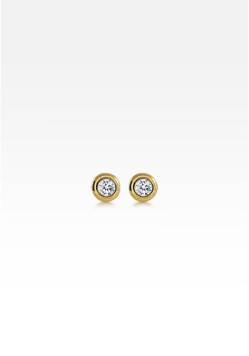 Kay Wicks - 18k Gold Bezel Set Round Diamond Stud Earrings (0.40 ctw.)