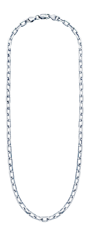 Men's 5 mm Sterling Silver Oval Link Chain Necklace