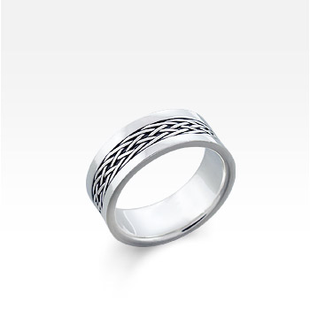 Men's Sterling Silver Celtic Braid Ring (Engravable)  SOLD OUT