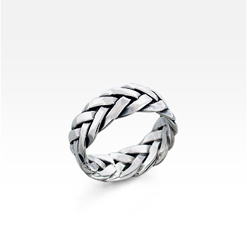 Men's Sterling Silver Celtic Broad-Braid Ring (SOLD OUT)