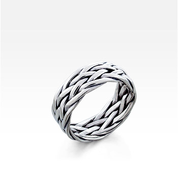 Men's Sterling Silver Celtic-Weave Ring - SOLD OUT
