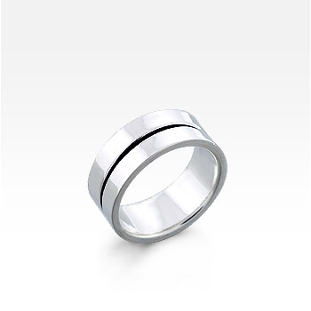 Men's Sterling Silver Oxidized Ridge Ring