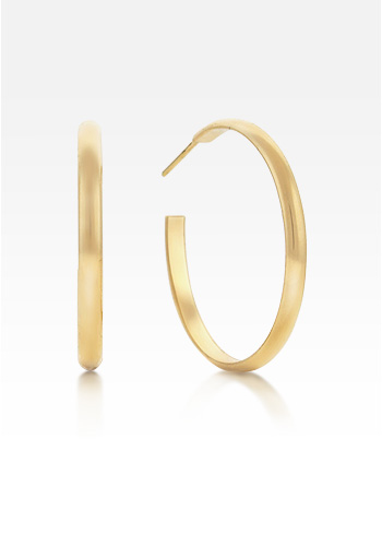 Small 14k Gold 'Everyday Wear' Concave Face Hoop Earrings