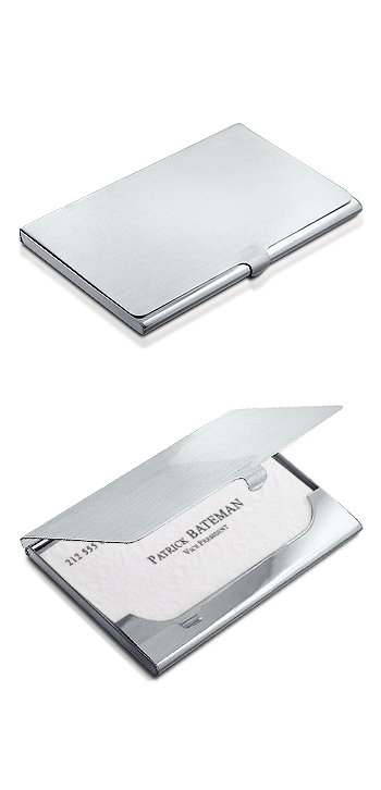 Sterling Silver Business Card Case Personalized