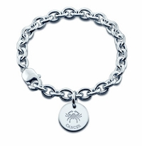 Sterling Silver Cancer Charm Bracelet