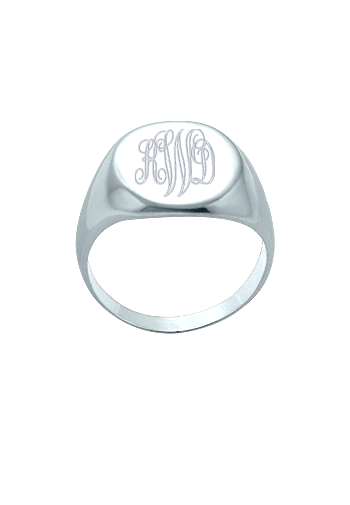 Sterling Silver Monogram Signet Ring