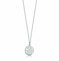 Sterling Silver Petite Cut Out Circle Monogram Necklace