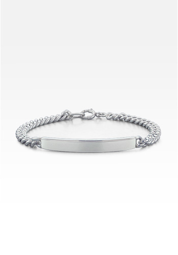 Sterling Silver Women's ID Bracelet (Engravable)