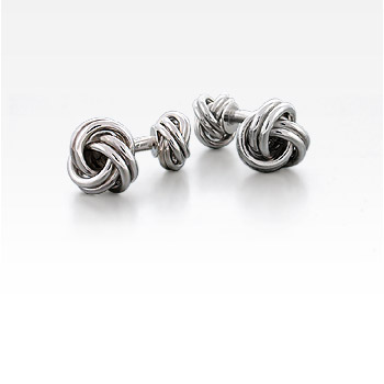 Vintage Sterling Silver Double Knot Cufflinks