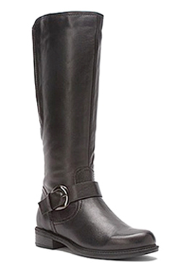 David Tate Women's Abby Women's Extra Wide Calf Knee High Leather Boot (Brown)