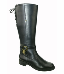 David Tate Women's Alana Extra/Super Women's Wide Calf� Boot (Black)