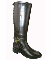 David Tate Women's Alana Extra/Super Women's Wide Calf� Boot (Brown)