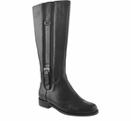 David Tate Women's Ashley Boot - Extra Wide Calf (Black)