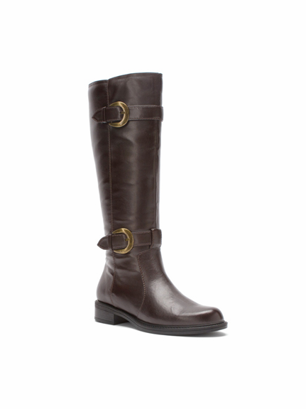 David Tate Women's Brandi Extra/Super Wide Calf™ Boot (Brown) - FINAL SALE