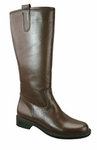 David Tate Women's Bree Super Plus Wide Calf Leather Riding Boot (Brown)