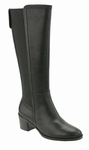 David Tate Women's Chloe Extra Wide Calf Boot (Black)