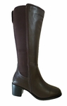 David Tate Women's Chloe Extra Wide Calf Boot (Brown)