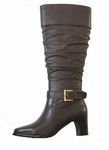 David Tate Women's Cruise Boot - Wide Calf (Brown)